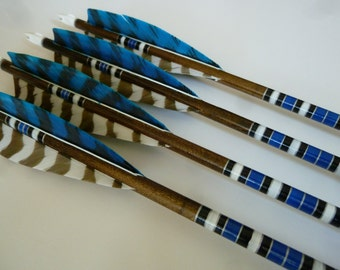 Port Orford Cedar Wooden Archery Arrows - Custom Made Hand Crested