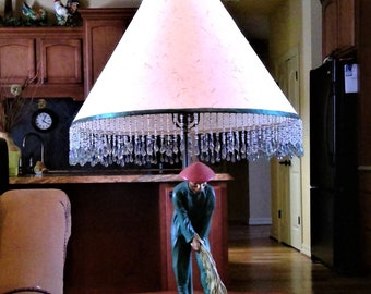 Vintage Earle Chapman Plasterware Asian Lamp   Working Condition