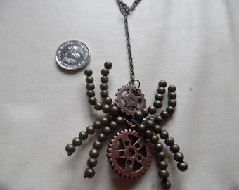 Steampunk Spider Statement Necklace
