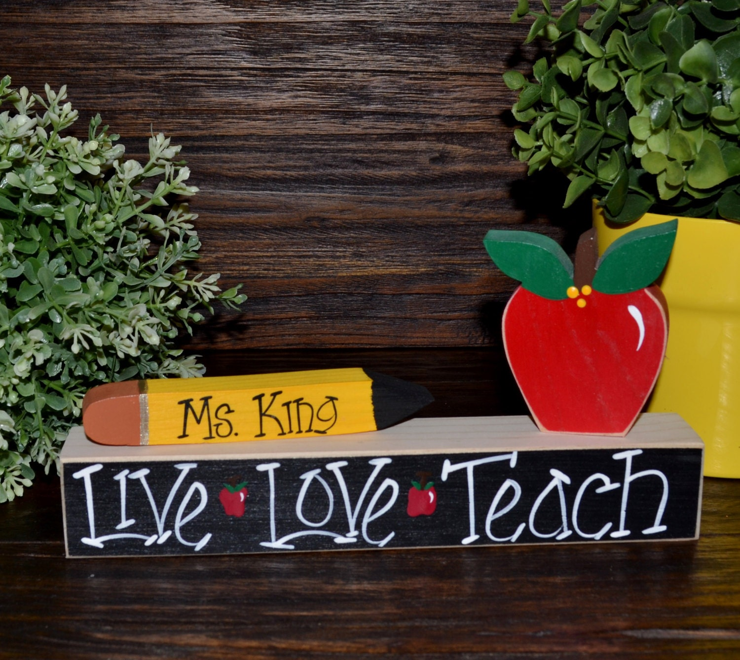 Personalized Teacher Name Plate Gift Personalized Teacher Gift