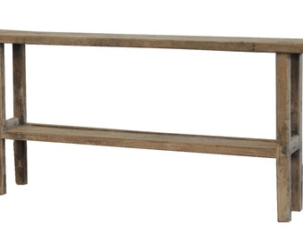 Reclaimed Wood Console Table from Terra Nova Designs