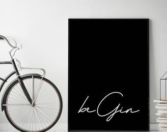 Type poster: Begin, Black