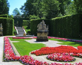 Travel Photography- German Palace Garden of King Ludwig II- German, European, Nature, Garden, Fine Art Photography