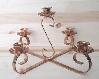 Vintage flower candelabra, candlestick holder, vintage, mid century modern, wedding decor, wedding centerpiece,
