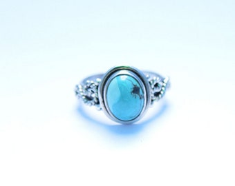 TURQUOISE RING, Turquoise Silver ring, Sterling silver ring, Gemstone Ring, Turquoise Stone  Silver Ring, 925 sterling silver   33