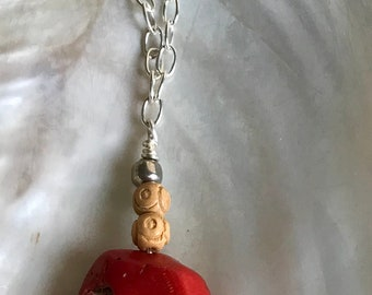 Red Coral w/ Long Chain