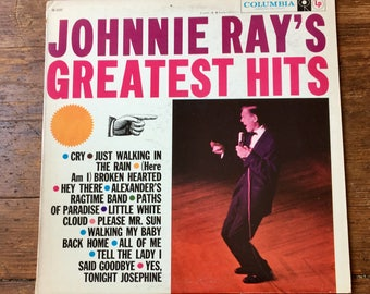 1958 Johnnie Ray's Greatest Hits, Record Album CL 1227. Sleeve VG, Record NM-. Columbia Records