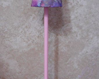 Pink Flower Pole Lamp