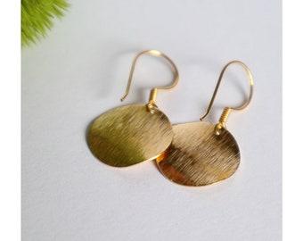 Ohrringe | C a t a l i n a | Gold Vermeil | Geometrischer Schmuck | Minimalistisch | Disc | Brass