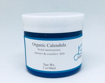 Calendula moisturizing facial lotion dry skin relief,acne,sensitive,allergies,anti aging