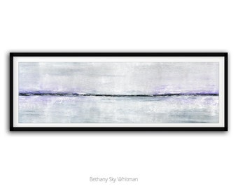 LARGE ABSTRACT PRINT 12x36 Instant Download Print Minimalist Art Digital Download Lavender White Modern Art Contemporary Painting Wall Decor