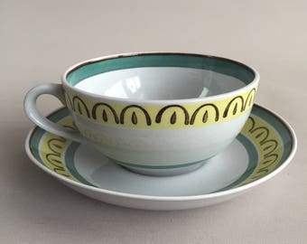 Arabia Tea cups and saucer x 6