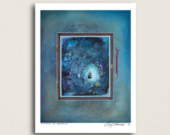 Window To Genesis - a space ship of sorts - Limited Edition Signed 8x10 Matte Print (9/10)