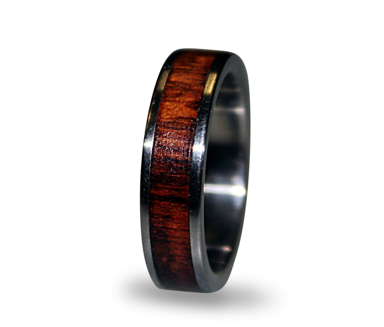 with twin inlay shop titanium black alpha ti bands silver s mens men ring rings