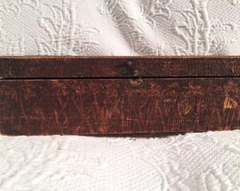 Flemish Wood Engraved Box