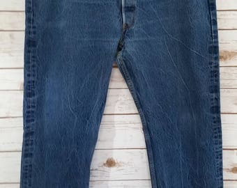 Vintage Plus Size Levi's 501 Buttonfly Boyfriend Jean for Curvy Girl Size 42