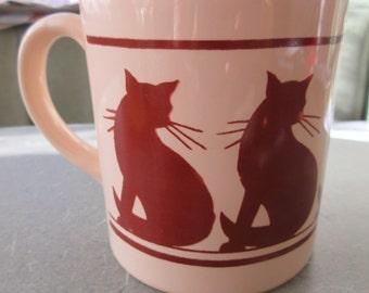 Vintage Mug, Cat Mug, Coffee Cup, Janet Nottingham, Ceramic Cup, 1970s Ceramic Mug, Cute Kawaii, Grindley Mug, Cat Cup, Made in England