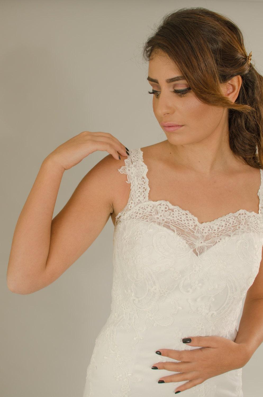 Ausverkauf Vintage Hochzeitskleid Rückenfreies