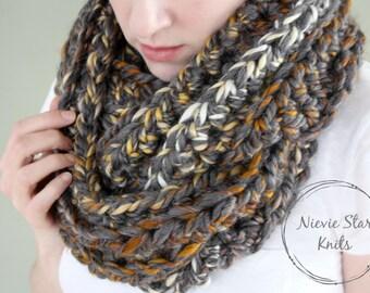 LIMITED EDITION // Oversized Crochet Infinity Scarf, Vegan Crochet Scarf, Chunky Crochet Scarf, Crochet Infinity, Blanket Scarf // GRANITE