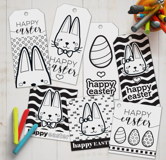 Diy coloring easter gift tags activity for kids printable diy coloring easter gift tags activity for kids printable tags for easter print cut and colour diy easter party favor for kids negle Choice Image
