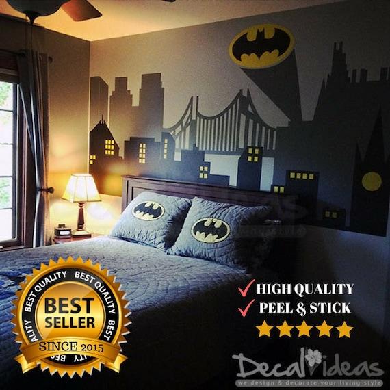 Wonderful Superhero Wall Decals Batman Gotham City Wall Decal Batman