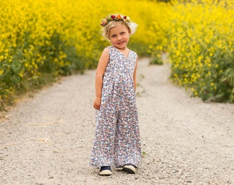 INSTANT DOWNLOAD- Katelyn Romper (Sizes 9/12 mos to Size 6) PDF Pattern and Tutorial