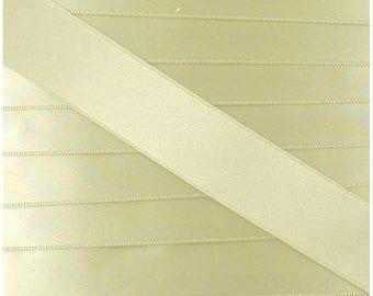 Satin ribbon / ECRU / width 10mm, 50cm cut