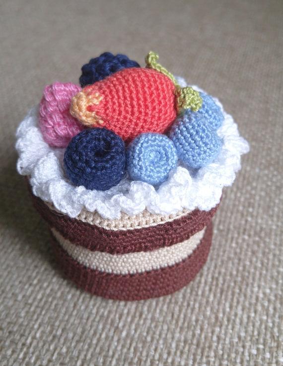 Häkeln Sie Schatz Kuchen backen Kuchen Beeren Crochet