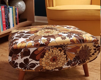 Sherbourne 1960's retro vintage footstool/sewing box.