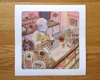 Cats Paw Confectionery - Fine Art Print by Nicole Gustafsson