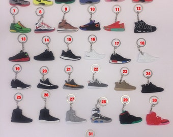 Adidas/Yeezy Sneaker Keychains - Lot of 3, 5, 10, 15 or 20