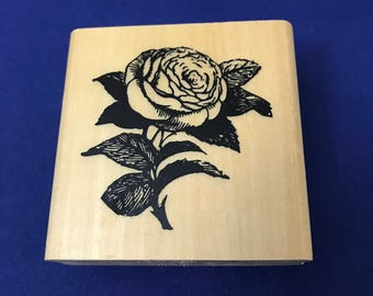 Single Rose, Rose Blossom, Flower, Anita's Rubber Stamp