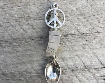 Peace Quartz Love Spoon