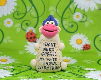 I don't need google my wife know everything! Funny gifts, Gift for husband, Gift for wife, Unique gifts, Marriage, Cow, Wife Statement Gift