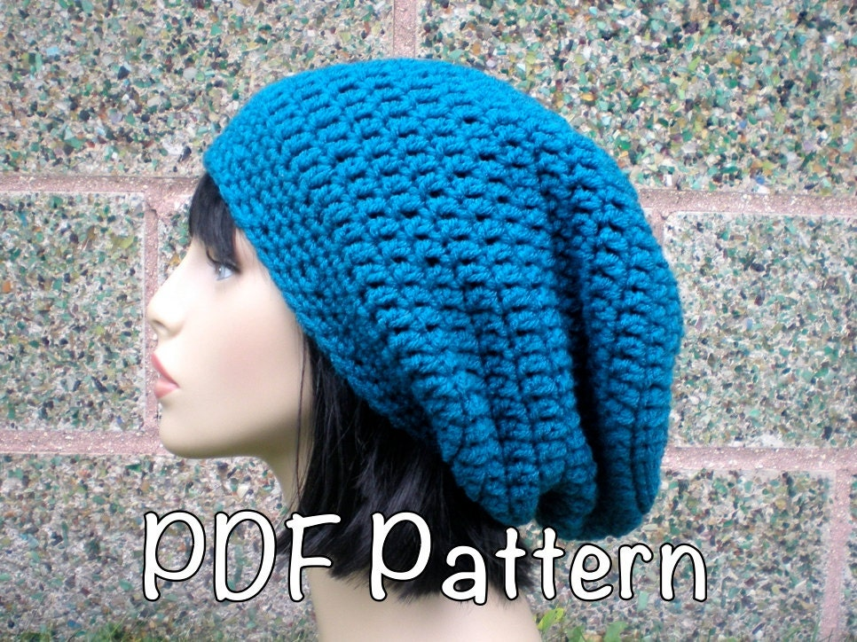 Pattern Autumn Slouch Unisex Slouchy Beanie Hat P D F