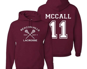 Scott Mccall 11 Teen Wolf Beacon Hills Inspired Lacrosse Adult Fashion Hoodie