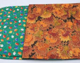 Table Runner - Fall / Thanksgiving / Christmas, Reversible, Quilted, 2 Holidays, Hand made,42''x11''