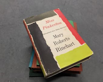 Miss Pinkerton Nurse Detective Vintage Mystery Fiction Book Hardcover 1959 by Mary Roberts Rhinehart