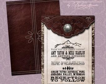 Old West Wedding Invitation Suite (SAMPLE)