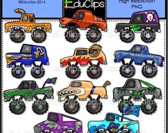 Monster Trucks Clip Art Bundle