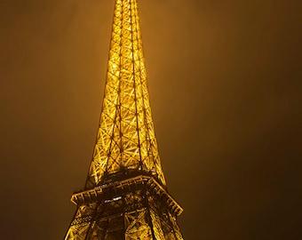 Eiffel Tower, Paris France, French, Paris Photography, Eiffel Tower Photography, Gold Photography, Paris Print, Paris Photo, Paris Fine Art