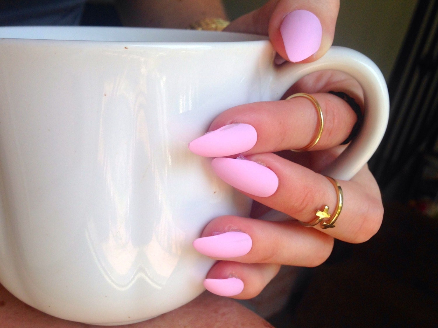 Matte Pink nails matt baby pink nails Matte press on nails