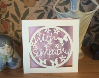 Papercut - With Sympathy Card