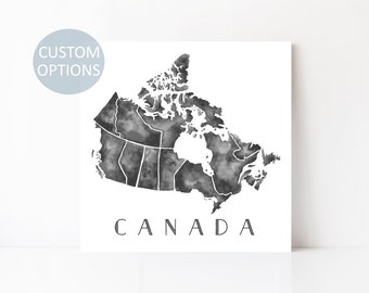 canada map canada watercolor art canada artwork canada art canadian provinces