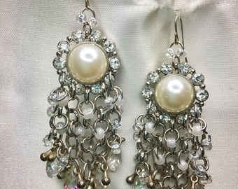 Pearl-Crystal Earrings