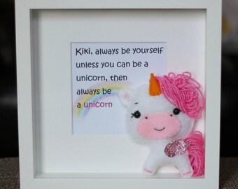 Felt Unicorn |  Stuffed Animal | Shelf Stuffie