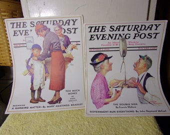 2 Saturday Evening Post Posters/Litho