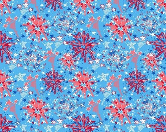 "12"" x 12"" Oracal Patterned Vinyl - Independence Day Light Blue by Sparkle Berry"