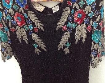1980s beaded dress