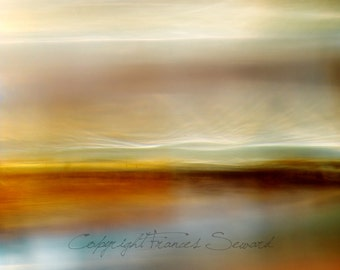Abstract Seascape, Sea Storm art, yellow, orange, blue art, abstract giclee art, on canvas, or museum paper, contemporary art, sea photo